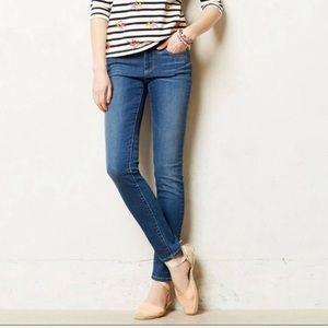 Anthro Pilcro Serif skinny mid rise medium Jeans